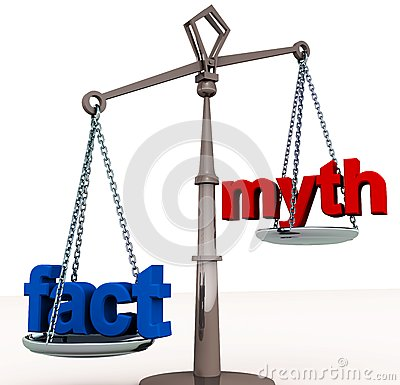 Free Fact Outweigh Myth Royalty Free Stock Image - 25779636