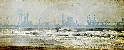 Factories on the seashore