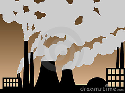Factory belching out pollution