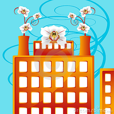 Factory Blooming with Business