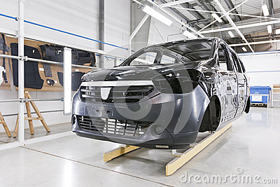 Factory car painting
