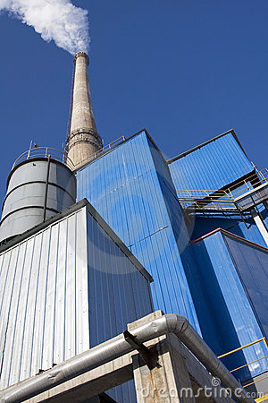 Factory with chimneys