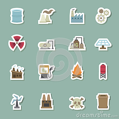 Free Factory Color Icons Royalty Free Stock Photos - 45904868