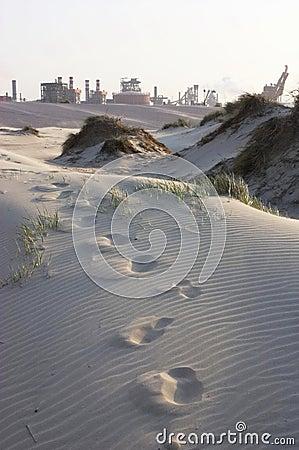 Factory in the dunes