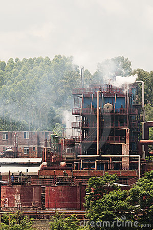 The factory emission