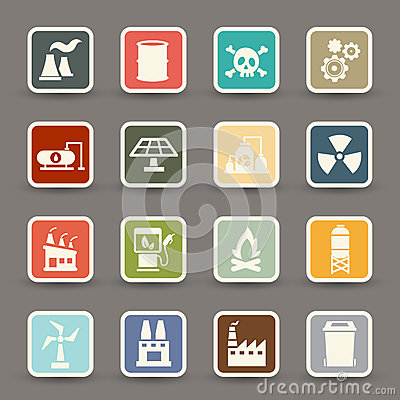 Free Factory Icons Vector Royalty Free Stock Images - 45088879