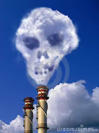 Free Factory Pile With Skull Effect Stock Image - 5426671