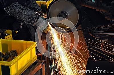 Factory polishing workshop