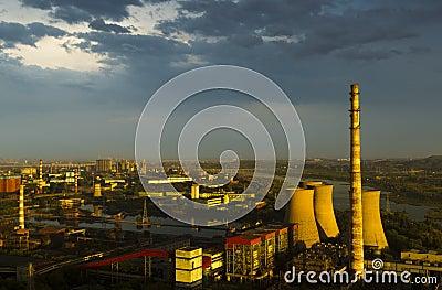 Factory after rain beijing