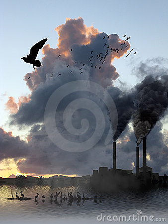 Factory Smoke Vs Birds Escape
