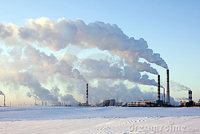 Factory in the winter