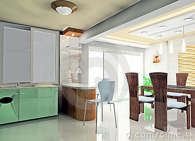 Faddish Kitchen Stock Image - Image: 12912691