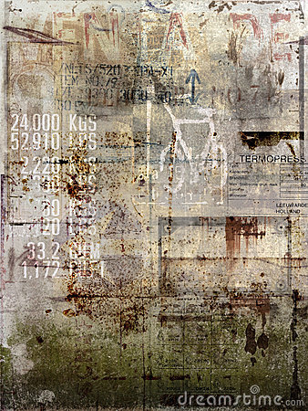 Free Faded Antique Poster Stock Images - 14326414