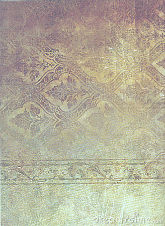 Faded patterned paper
