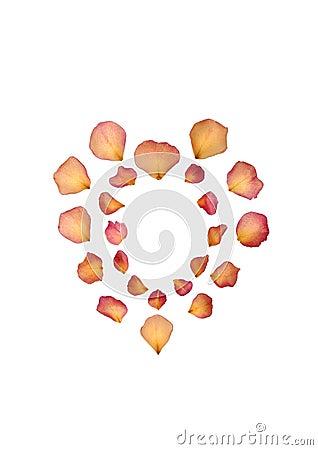 Free Faded Rose Petal Heart Royalty Free Stock Image - 7601936