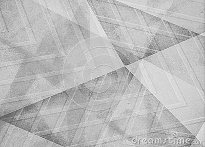 Faded white and gray background, angles lines and diagonal shape pattern design in monochrome black and white color scheme Stock Photo