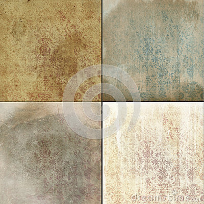 Faded worn wallpaper patterns