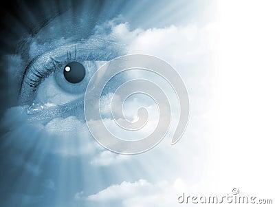 Fading eye abstract
