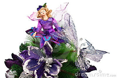 Faerie doll in Christmas tree