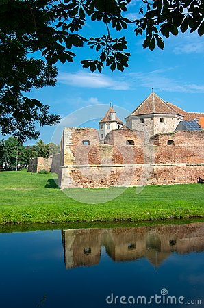 The Fagaras Fortress In Brasov County Romania Royalty