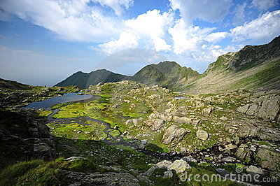 Fagaras mountains, summer landscape