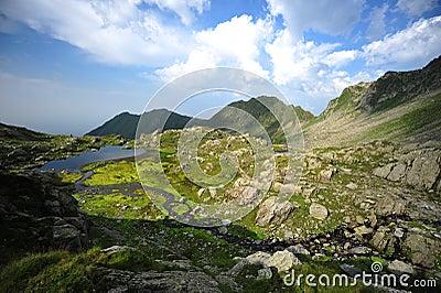 Fagaras mountains, summer landscape