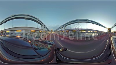 Fahren über die Menai-Brücke in Nord-Wales in Richtung zu Bangor - Vereinigtem Königreich stock video footage