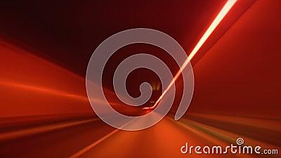 Fahren durch Tunnelunschärfe und -glühen stock footage
