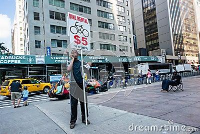 Fahrradmiete Redaktionelles Stockfoto