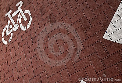 Fahrradweg in einer Stadt