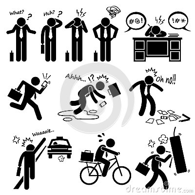 Free Fail Businessman Emotion Feeling Action Cliparts Icons Royalty Free Stock Photography - 45286187
