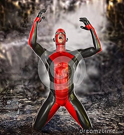Free Failure Concept Superhero Stock Photography - 46595382