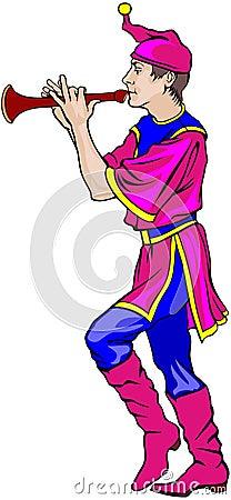 Fair dancer with the flute