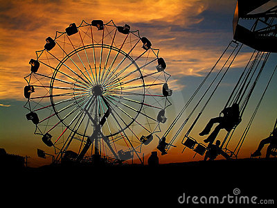 Fair at sunset