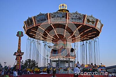 Fair swing ride Editorial Photography