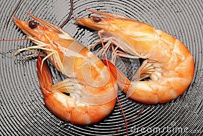 Faire frire des crevettes