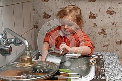 faire la vaisselle photo stock image 1869910. Black Bedroom Furniture Sets. Home Design Ideas