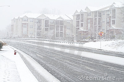 Fairfax śniegu burza