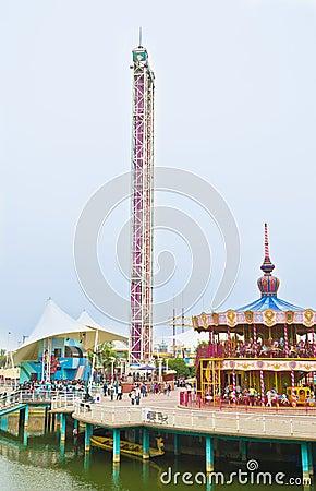 Fairground Editorial Stock Photo