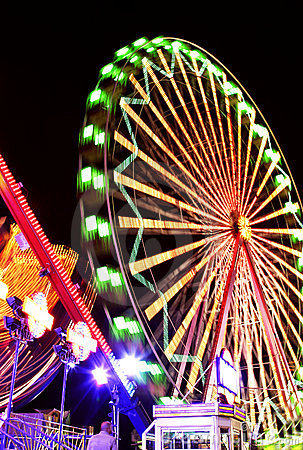 Free Fairground At Night Stock Photography - 1889882