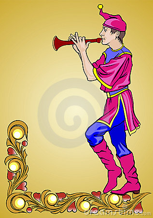 Fairground dancer with the flute