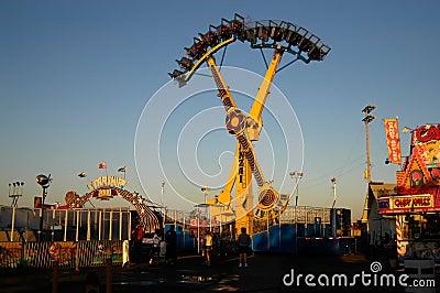 Fairground at dusk