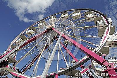Fairground Ferris Wheel Stopped for next load