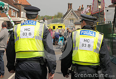 Fairground police patrol Editorial Photography