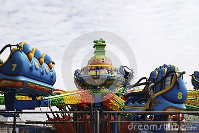 Fairground ride on Brighton Pier. UK