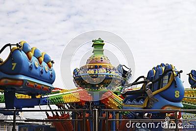 Fairground ride on Brighton Pier. UK