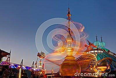 Fairground Ride Motion Blur