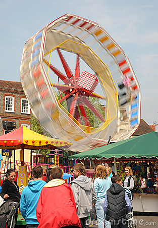 Fairground ride at speed Editorial Photography