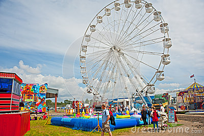 Fairground at Traction Engine Rally Editorial Photography