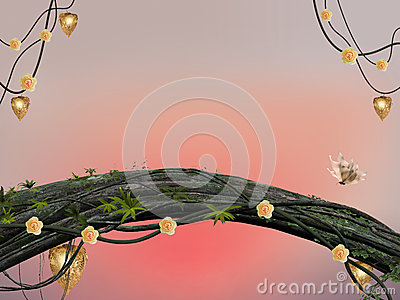 Fairies forest background